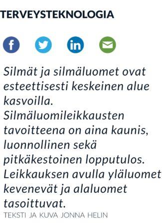 Helsingin sanomat Terveysteknologia 2021 Silmäluomileikkaukset